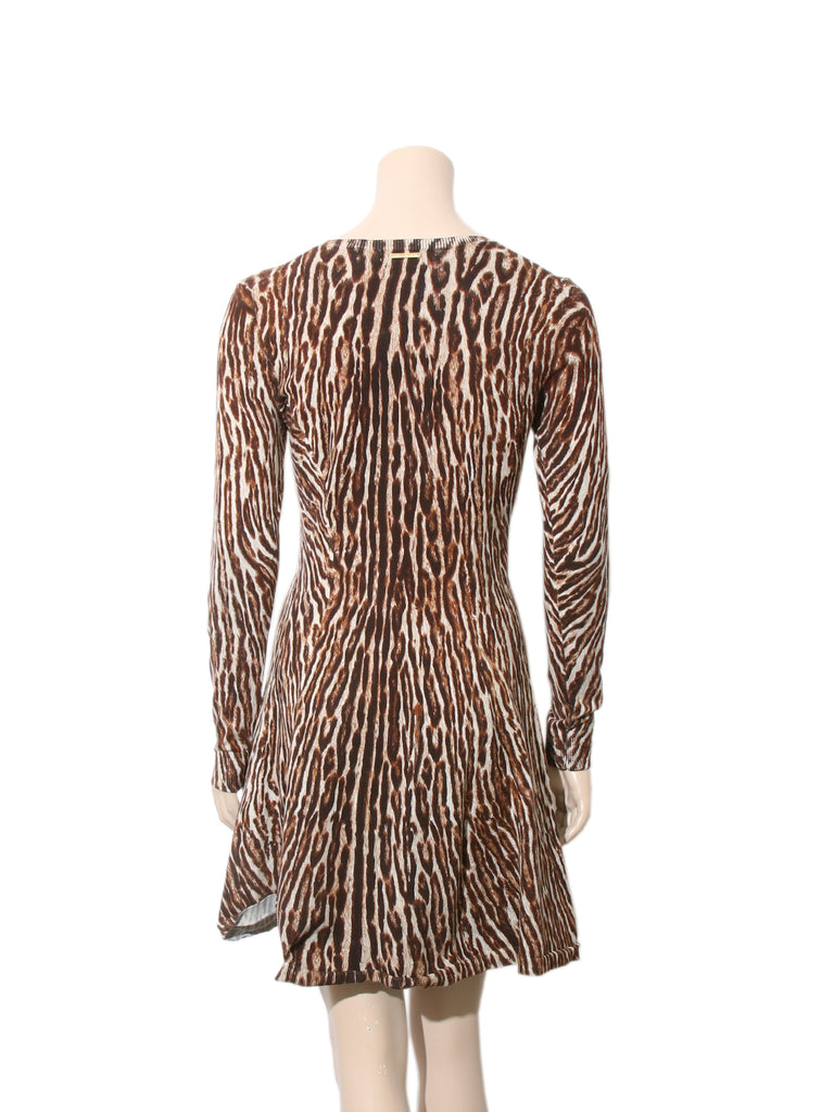 78f56f0642 Pre-owned Michael Kors Leopard-Print Sweater Dress – Sabrina s Closet