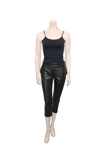 Yves Saint Laurent Cropped Leather Pants