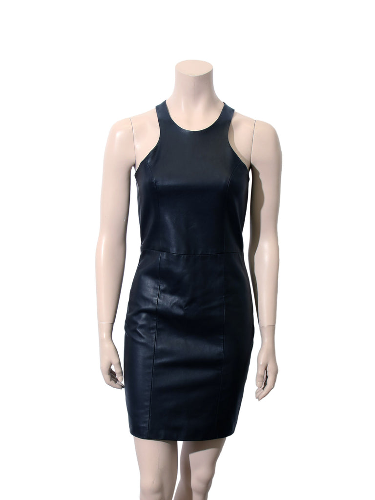 Mason Leather-Front Dress