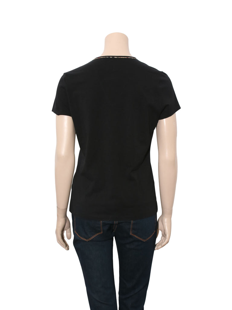 Burberry Check Trim T-Shirt