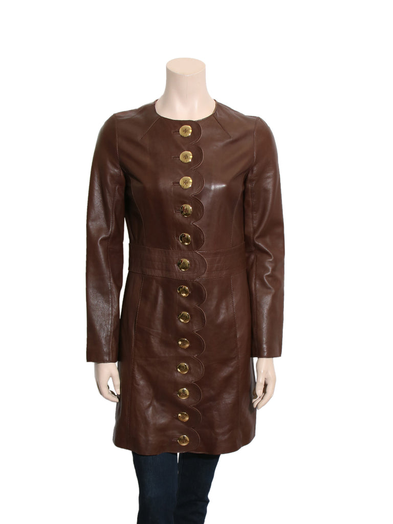 Tory Burch Scalloped Leather Jacket