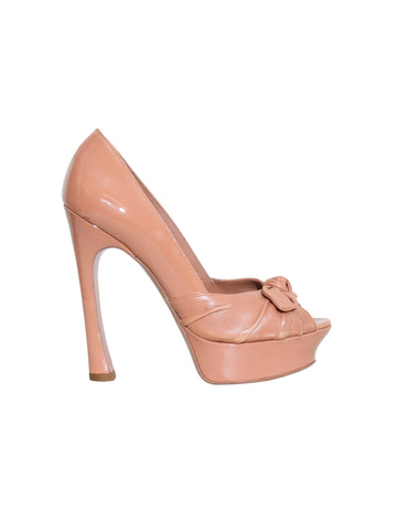 Yves Saint Laurent Palais Peep-Toe Pumps