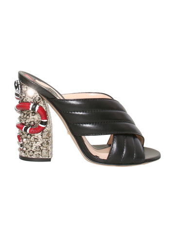 Gucci Webby Leather Sandals