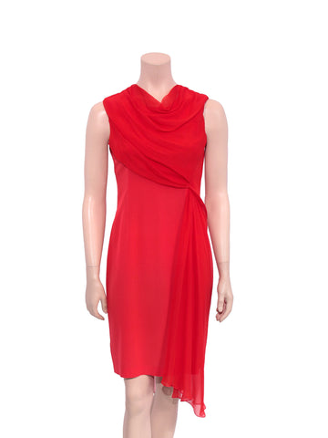 Vera Wang Draped Silk Dress