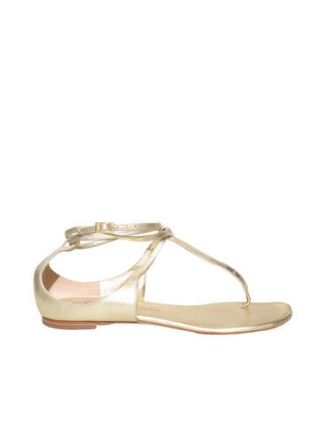Giuseppe Zanotti Leather Flat Sandals