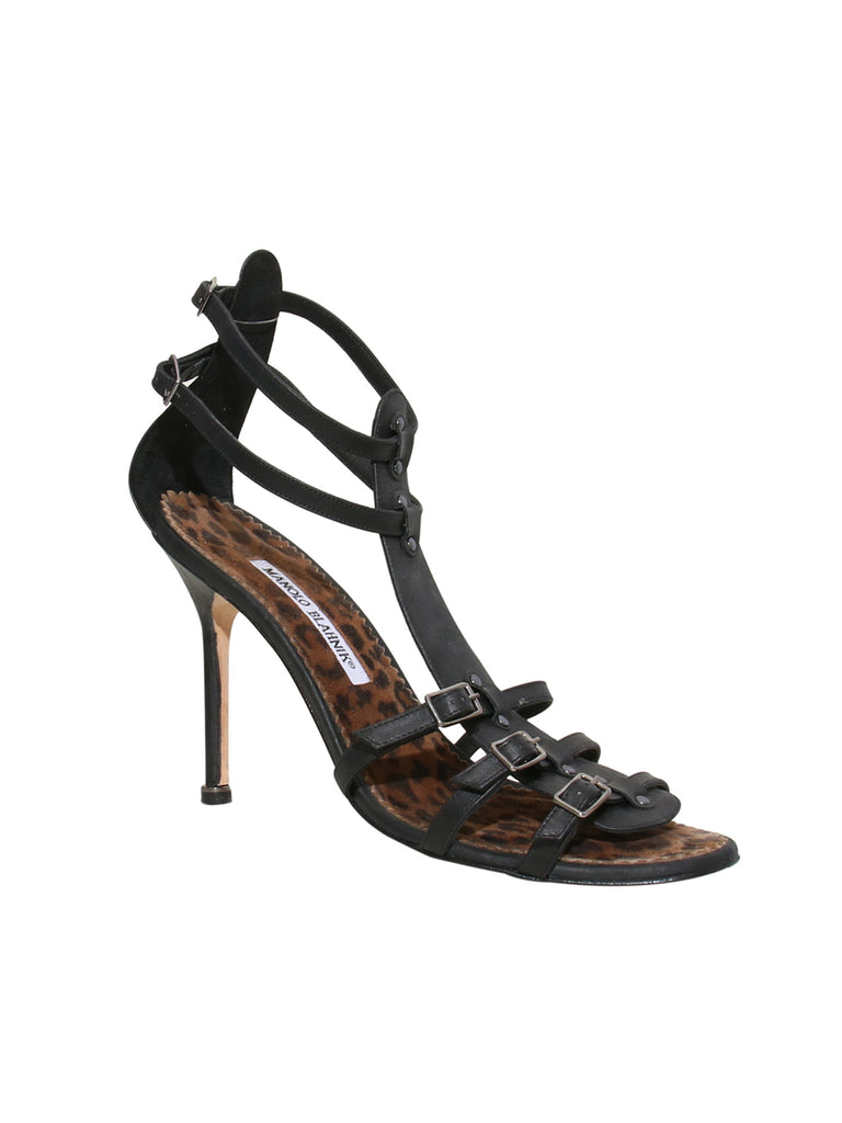 Manolo Blahnik Strappy Leather Sandals