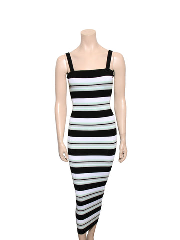 Ronny Kobo Striped Ribbed Dress