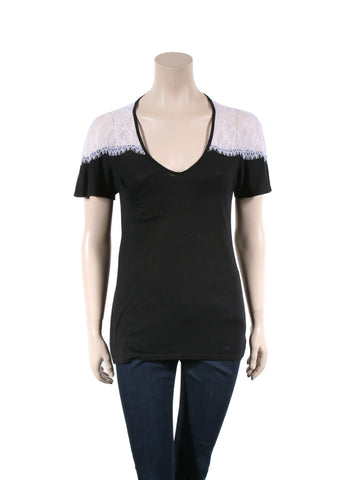 Ella Moss Lace Detail T-Shirt