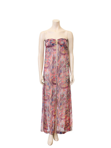 Melissa Odabash Printed Silk Sheer Cover Up