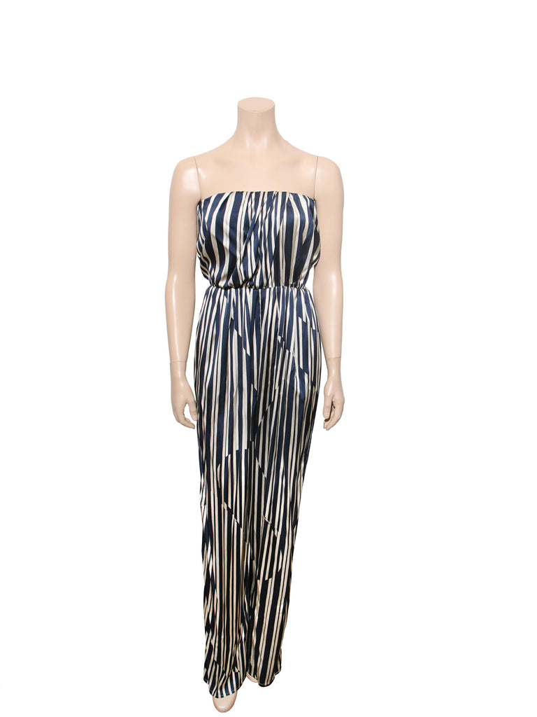 Thakoon Addition Strapless Striped Jumpsuit