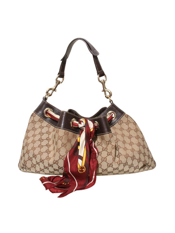 Gucci GG Canvas Positano Shoulder Bag