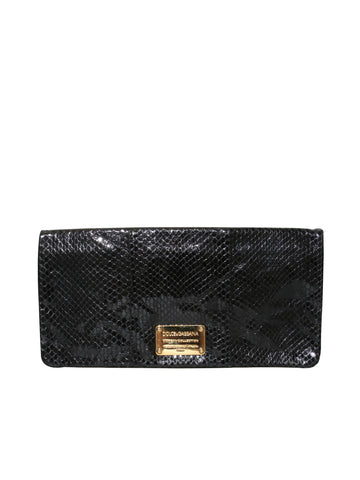 Dolce & Gabbana Leather Flap Clutch Bag