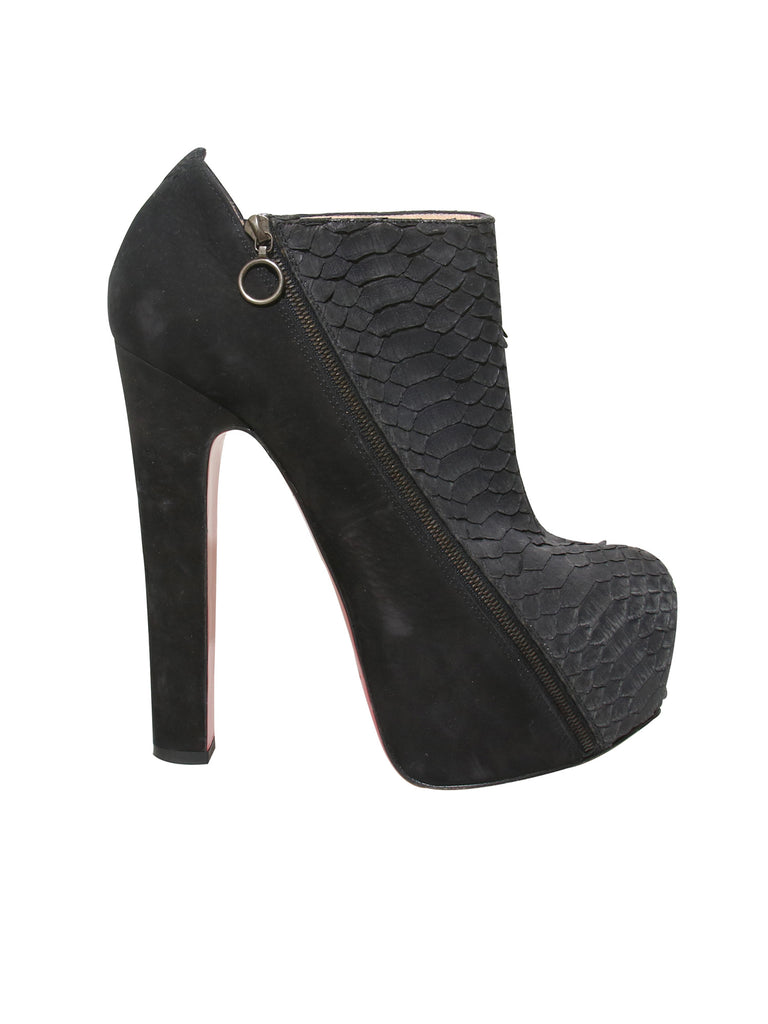 best service b4504 b69d5 Snakeskin and Suede Boots