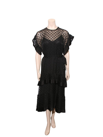 Zimmermann Polka Dot Lace Trim Dress