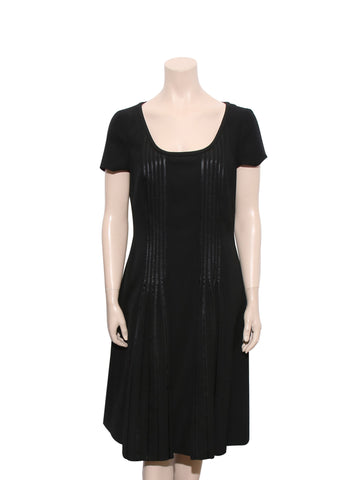 Escada Short-Sleeve Wool Dress