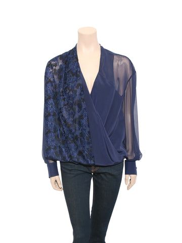 Prabal Gurung Silk Wrap-Front Blouse
