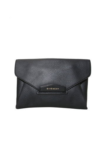 Givenchy Antigona Textured-Leather Clutch