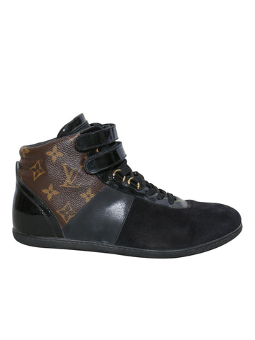 Louis Vuitton Move Up Monogram Canvas and Suede Sneakers