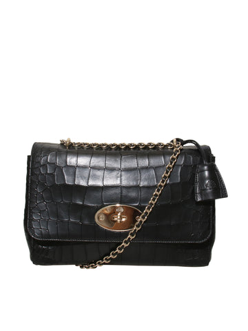 Mulberry Embossed Leather Lily Bag