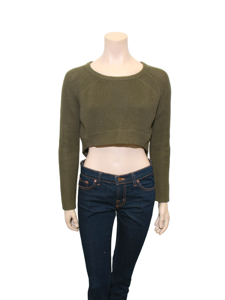 Maje Cropped Knit Sweater