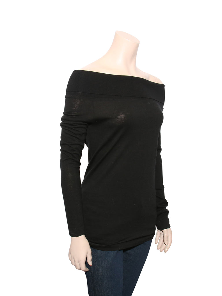 Nicholas Off-The-Shoulder Merino Wool Sweater