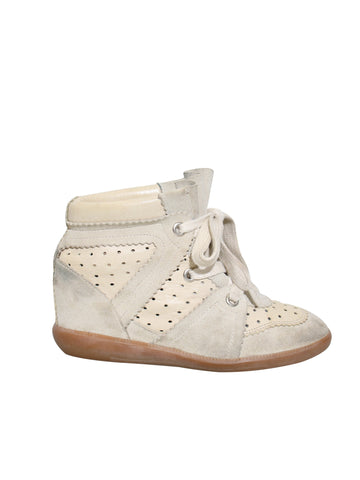 Isabel Marant Bobby Wedge Suede Sneakers