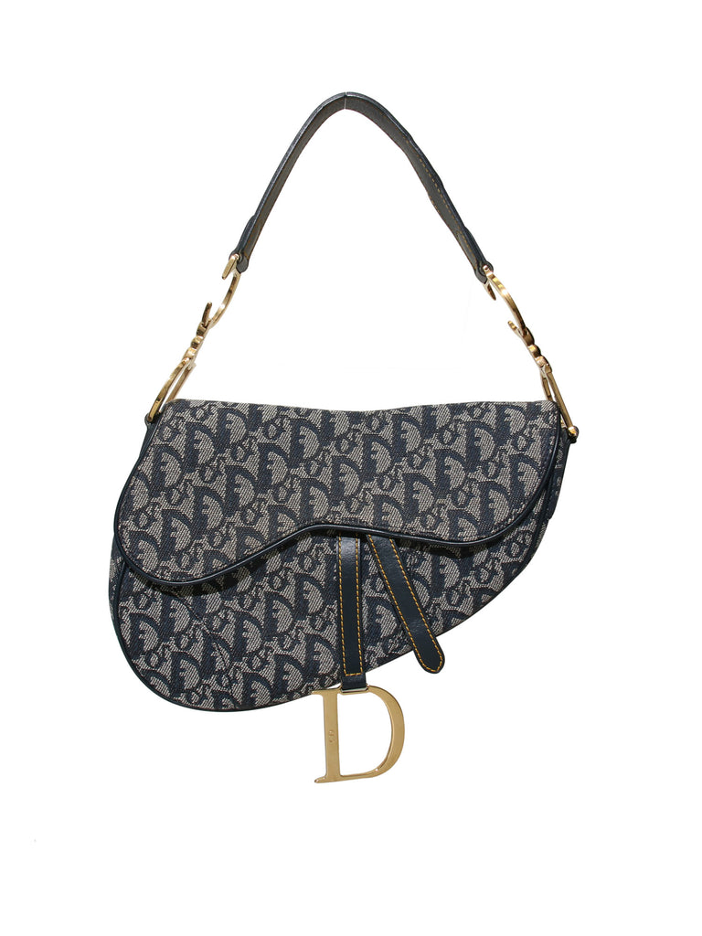 Christian Dior Canvas Saddle Bag