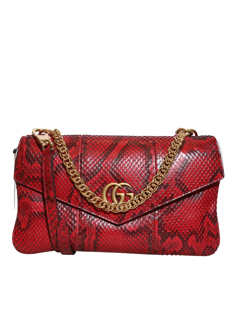 Gucci New 2019 Thiara Python Double-Sided Envelope Bag