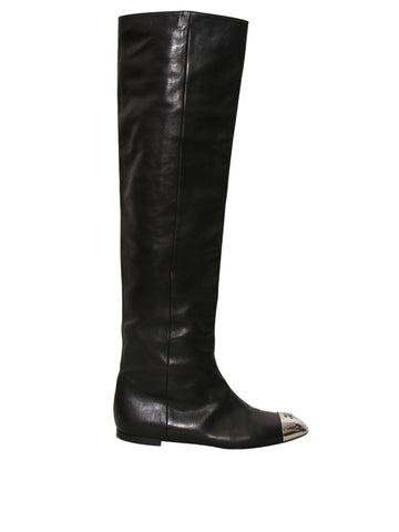Chanel Leather Boots