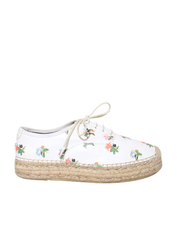 Saint Laurent Leather Floral Espadrilles