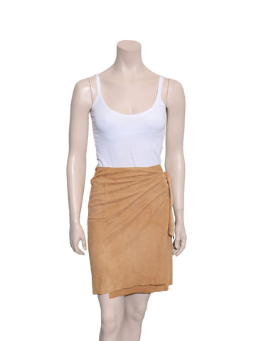 Ralph Lauren Suede Wrap Skirt