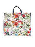 Gucci New Large Flora Canvas Tote Bag