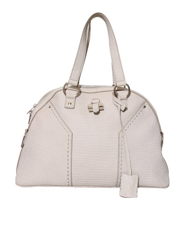 YSL Embossed Leather Muse Tote