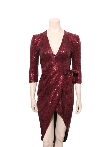 Zhivago Sequin Wrap Dress