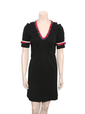 Gucci Ruffle-Trimmed Mini Dress