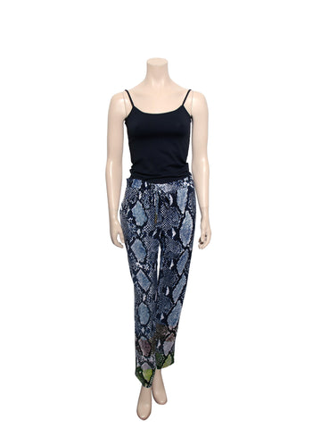 DVF Benett Two Animal Print Silk Trousers