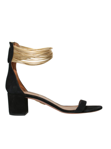 Aquazzura Suede Ankle-Strap Sandals