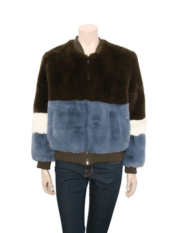 Apparis Ana Faux Fur Color Block Coat