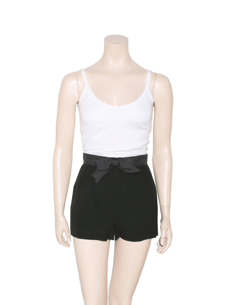 Moschino High-Waisted Bow Shorts