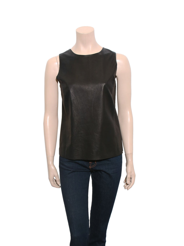 Vince Sleeveless Leather Top