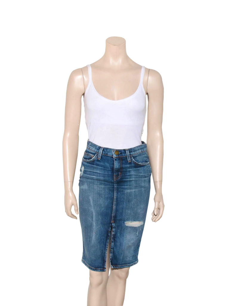 Current/Elliott High Waist Denim Pencil Skirt