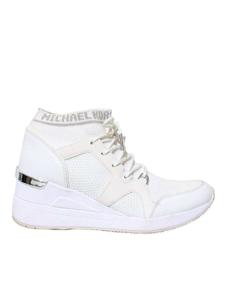 Michael Kors Logo Knit Lace-Up Sneakers