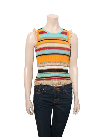 Moschino Striped Knit Top
