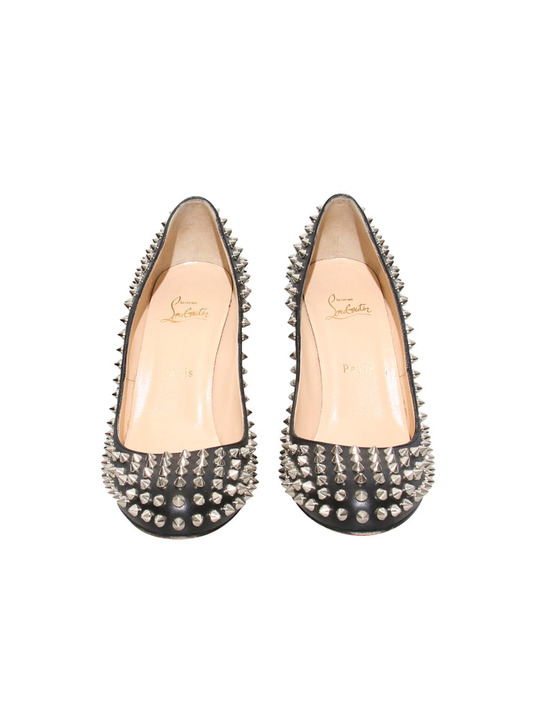 Christian Louboutin Studded Round-Toe Pumps