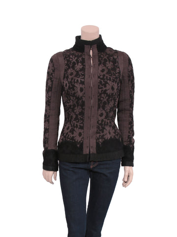 Rochas Silk and Wool-Blend Devoré Jacket
