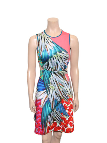 Clover Canyon Printed Cut-Out Dress