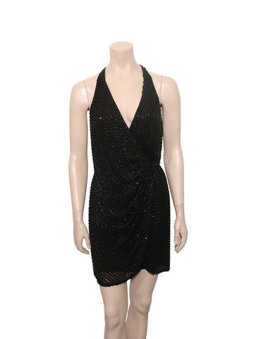 Parker Beaded Wrap Dress