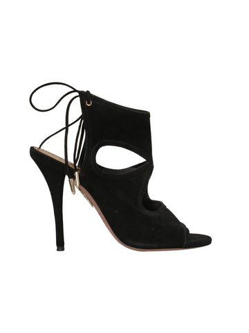Aquazzura Suede Cut-Out Sandals