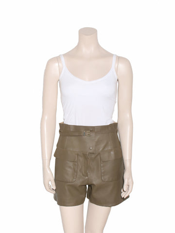 Valentino Leather Shorts