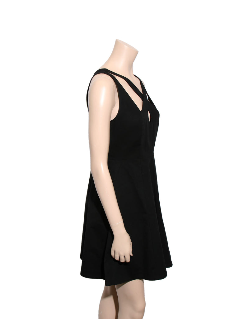 Halston Heritage Cut-Out Dress